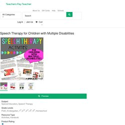 Speech Therapy for Children with Multiple Disabilities by Speech Me Maybe