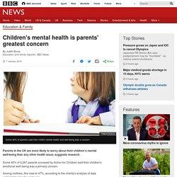 Children's mental health is parents' greatest concern