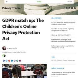 GDPR match up: The Children's Online Privacy Protection Act