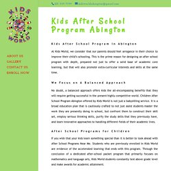 Children After School Program Abington- Kids After School Program Abington