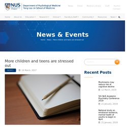 More children and teens are stressed out