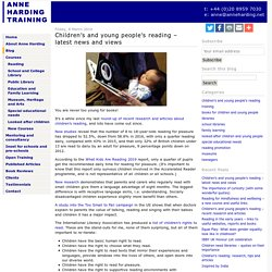 Children's and young people's reading - latest news and views - Anne Harding Training