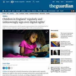 Children in England 'regularly and unknowingly sign over digital rights'