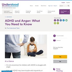 Relationship Between ADHD and Anger