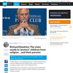 Richard Dawkins: The state needs to 'protect' children from religion…and their parents