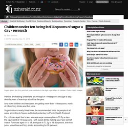 Children under ten being fed 14 spoons of sugar a day - research - Lifestyle