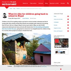 What it's like for children going back to school in Nepal