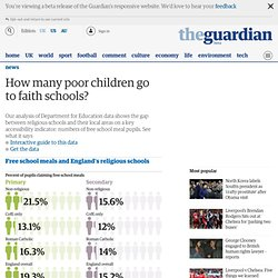 How many poor children go to faith schools?