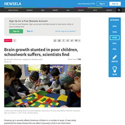 Brain growth stunted in poor children, schoolwork suffers, scientists find
