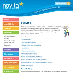 Novita Children's Services - Bullying