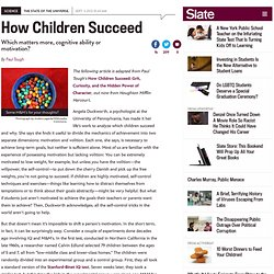 How Children Succeed book excerpt: What the most boring test in the world tells us about motivation and IQ