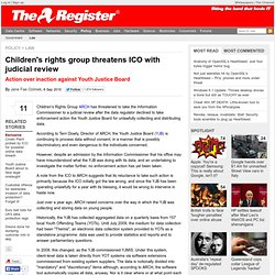 Children's rights group threatens ICO with judicial review