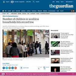 Number of children in workless households hits record low