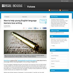 How to help children love writing in English