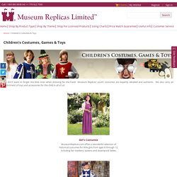 Childrens Medieval Clothing, Kids Costumes Online at MuseumReplicas.com