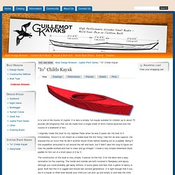 Guillemot Kayaks - Small Wooden Boat Designs