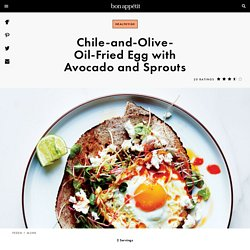 Chile-and-Olive-Oil-Fried Egg with Avocado and Sprouts Recipe