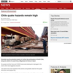 Chile quake hazards remain high
