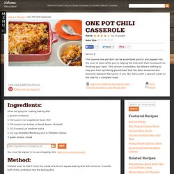 One Pot Chili Casserole