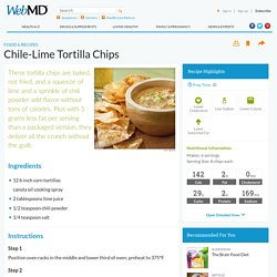 Chili Lime Tortilla Chips Recipe