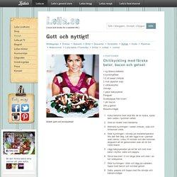 Chilikyckling med färska betor, bacon och getost / Nyttigt ~ Recept