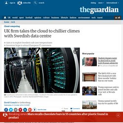 UK firm takes the cloud to chillier climes with Swedish data centre