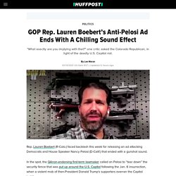 GOP Rep. Lauren Boebert's Anti-Pelosi Ad Ends With A Chilling Sound Effect