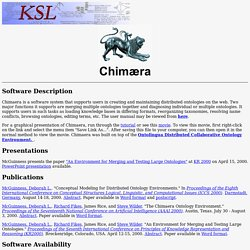 Chimaera Home Page