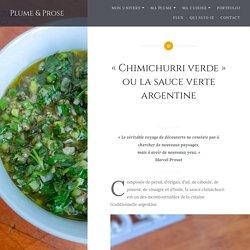 «Chimichurri verde» ou la sauce verte argentine