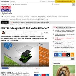 Chimie : de quoi est fait votre iPhone