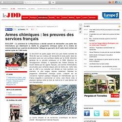 Armes chimiques : les preuves des services français