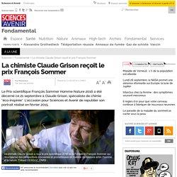 La chimiste Claude Grison reçoit le prix François Sommer