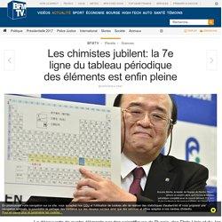 Les chimistes jubilent: la 7e ligne du tableau périodique des éléments est enfin pleine