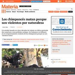 Los chimpancés matan porque son violentos por naturaleza