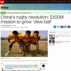 China's $100M mission to grow 'olive ball'