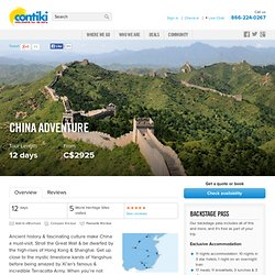 China Adventure Tour — Asia — Contiki Tours