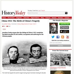 China 1911: The Birth of China's Tragedy