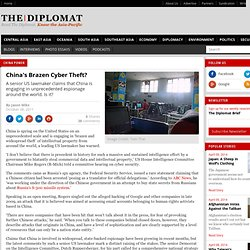 China's Brazen Cyber Theft?