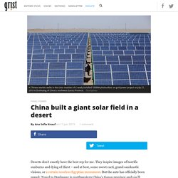 China built a giant solar field in a desert