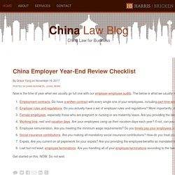 China Law Blog : China Law for Business