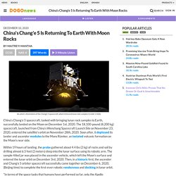 China's Chang'e 5 Is Returning To Earth With Moon Rocks Kids News Article