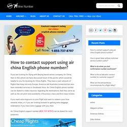 Air China English phone number