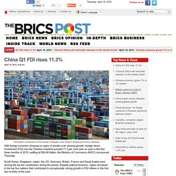China Q1 FDI rises 11.3%