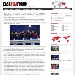 China flexes its muscles at APEC with the revival of FTAAP
