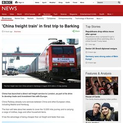 'China freight train' in first trip to Barking