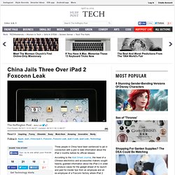 China Jails Three Over iPad 2 Foxconn Leak