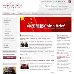 China Brief - The Jamestown Foundation
