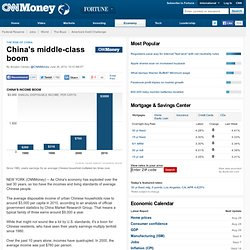China's middle-class boom - Jun. 26
