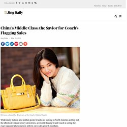 China's Middle Class: the Savior for Coach's Flagging Sales