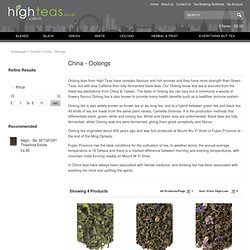 China - Oolongs from highteas